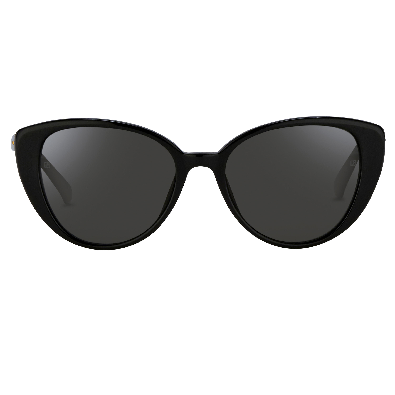 0d9436dae7 Linda Farrow LFL 517 Sunglasses - Black   Grey Gradient - Tortoise+Black