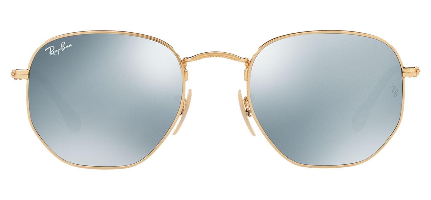 685bd6e57aa2d 0rb3548n  001 30 product1. 0rb3548n  001 30 product3. Ray-Ban RB3548N  Hexagonal Flat Lens Sunglasses – Gold ...