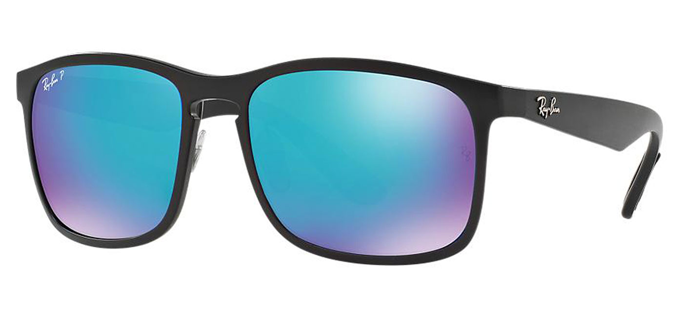 0062100b9ee 0rb4264  601sa1 product2 · 0rb4264  601sa1 product3 · Ray-Ban RB4264  Sunglasses – Matte Black   Blue Mirror Choromance Polarised 4