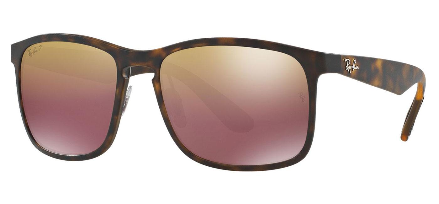 d5fa7aa254d6 Ray-Ban RB4264 Sunglasses - Matte Havana   Purple Mirror Chromance ...