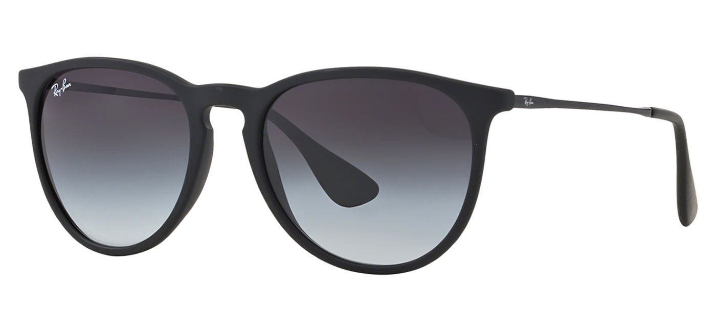 ef4be3755f ... Ray-Ban RB4171 Erika Sunglasses – Rubberised Black   Grey Gradient.  prev. next. 662 8g-front