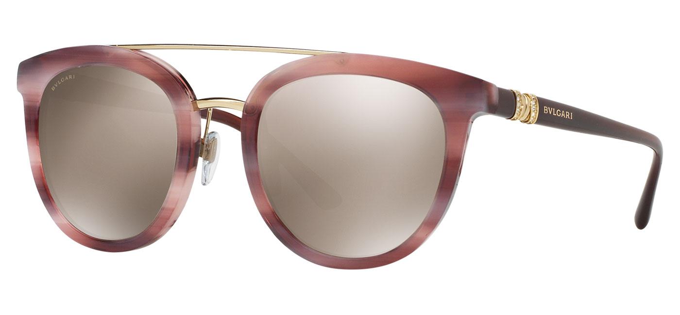 Bvlgari Sunglasses Gold Frame : Bvlgari BV8184B Sunglasses - Havana Pink & Brown / Brown ...