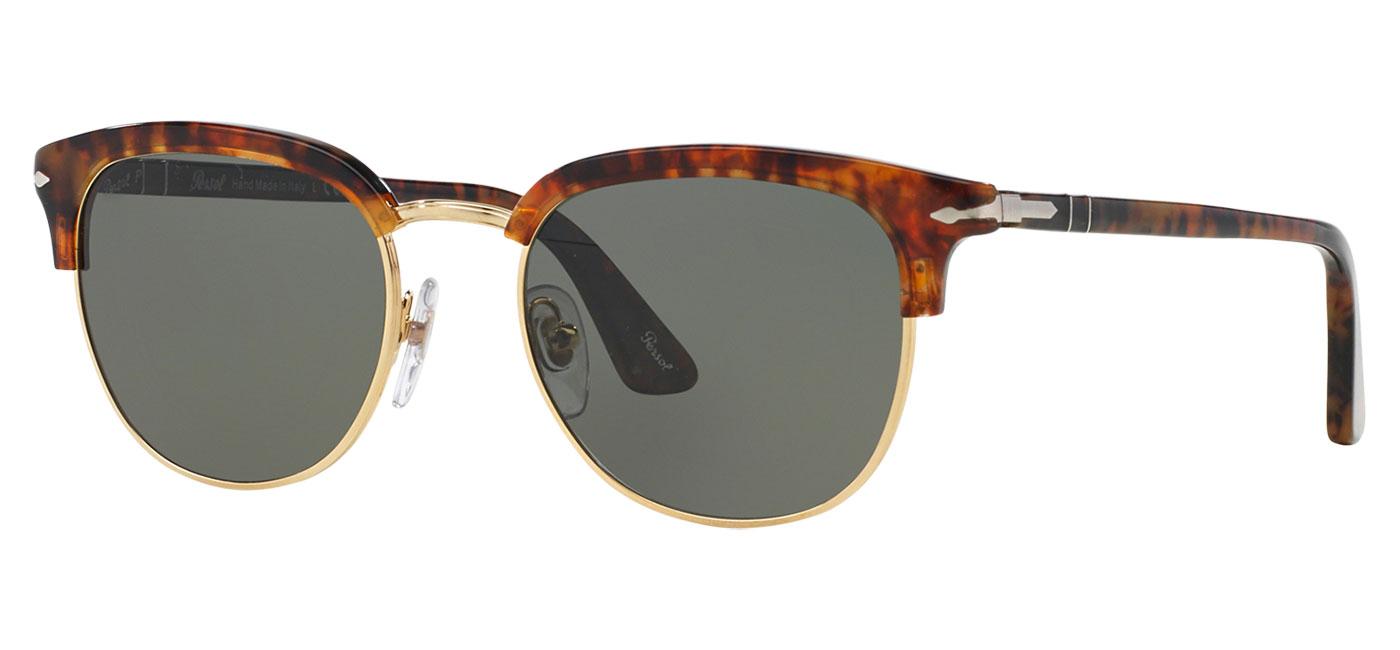 180ffe821ecda Persol PO3105S Sunglasses - Caffe   Green Polarised - Tortoise+Black
