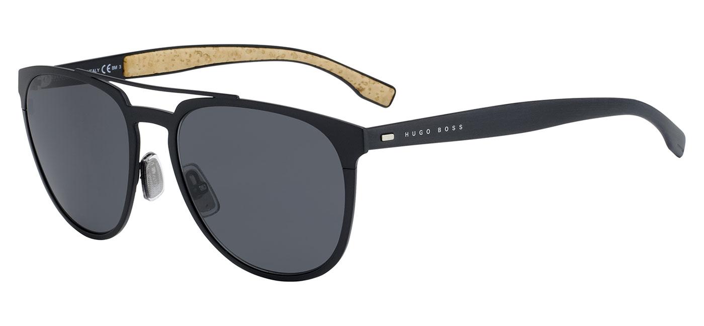 7b5337c132 Hugo Boss 0882 S Sunglasses - Matte Black   Grey Blue - Tortoise+Black