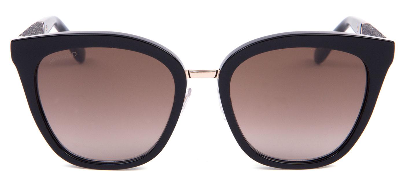 8b59a8e4210e FABRY-FA3-J6_product1. FABRY-FA3-J6_product3. Jimmy Choo Fabry Sunglasses –  Black & Glitter Black / Brown Gradient 4