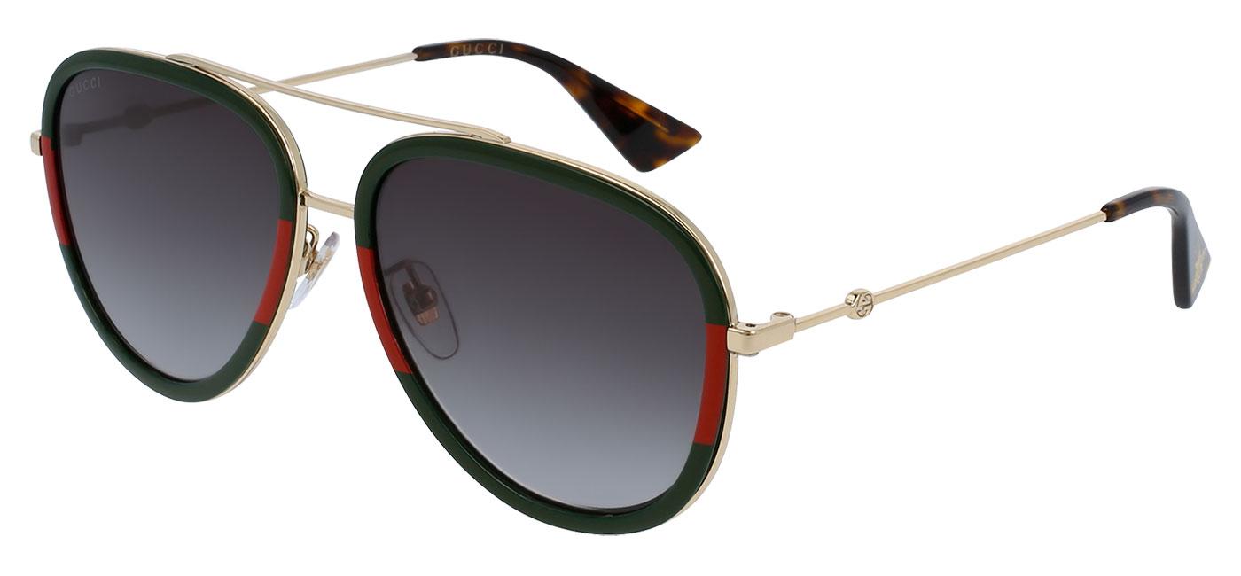 21cc42c39d3 Gucci GG0062S Sunglasses - Green-Red   Gold   Green Gradient -  Tortoise+Black