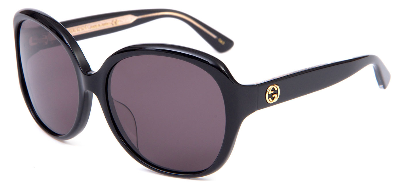 e2becc0e2d1de Gucci GG0080SK Prescription Sunglasses - Black - Tortoise+Black