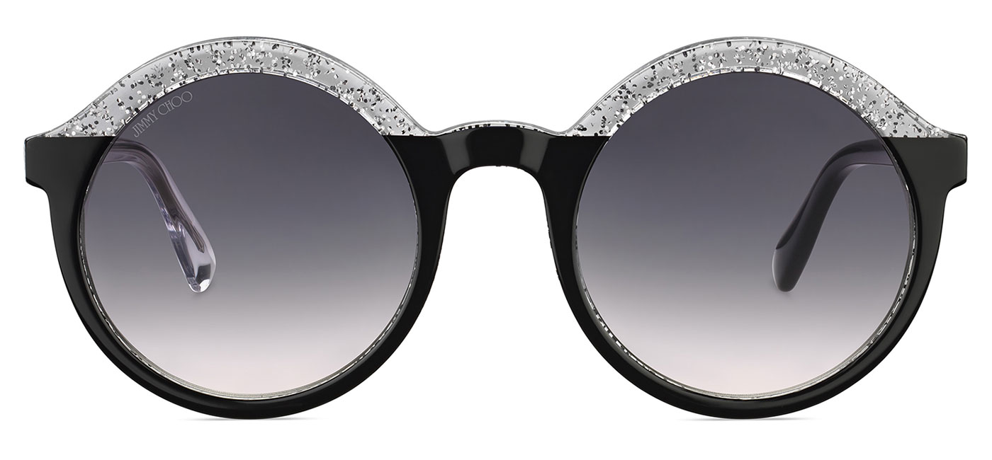 da0e21470be4 Jimmy Choo Glam Sunglasses - Black   Glitter Clear   Dark Grey ...