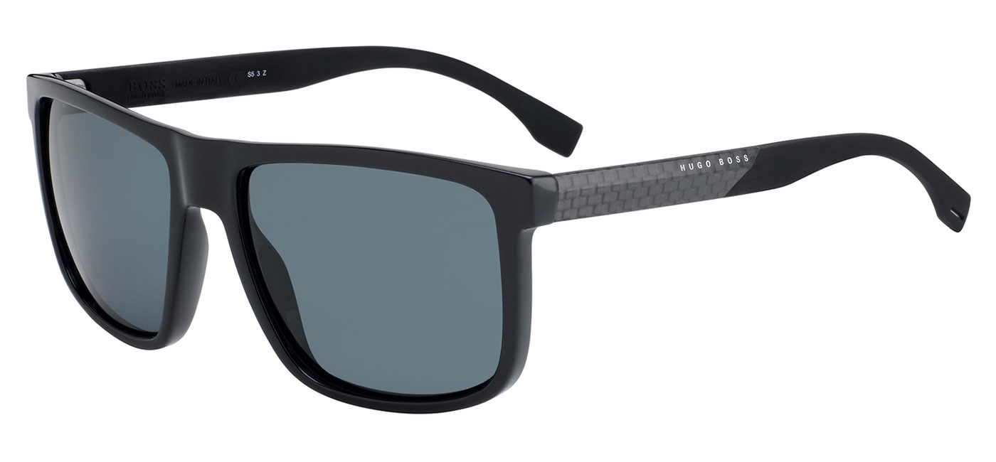 edcdac19ec Hugo Boss 0879 S Prescription Sunglasses - Carbon Black - Tortoise+Black