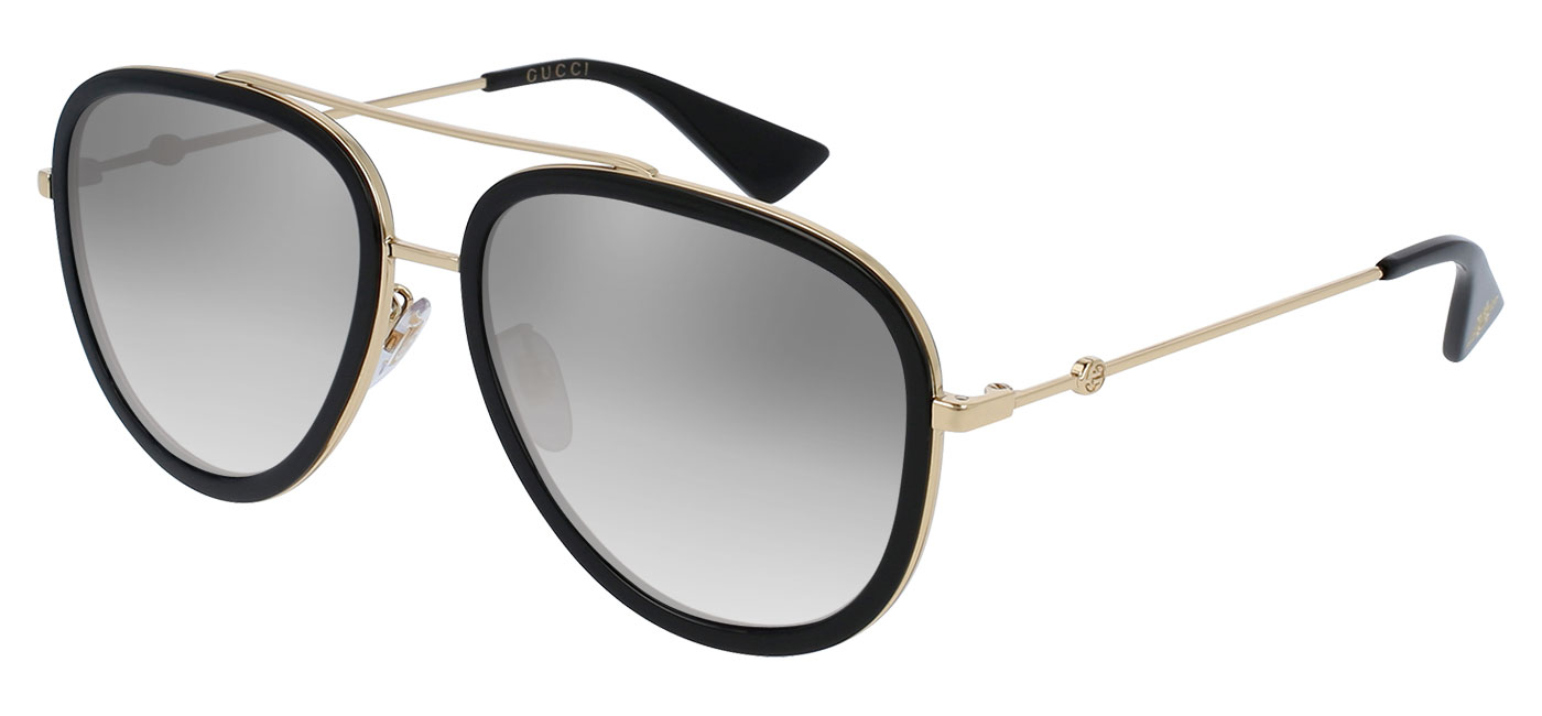 f6b39059de7c9 ... Gucci GG0062S Prescription Sunglasses – Black   Gold. prev. next.  grey-gradient