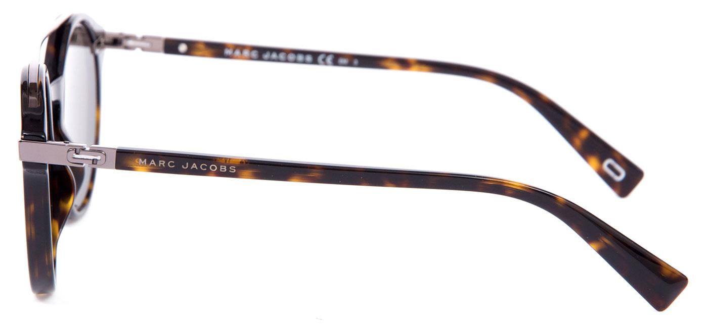5fc2a2841ebb79 Marc Jacobs 173 S Sunglasses - Dark Havana   Green - Tortoise+Black