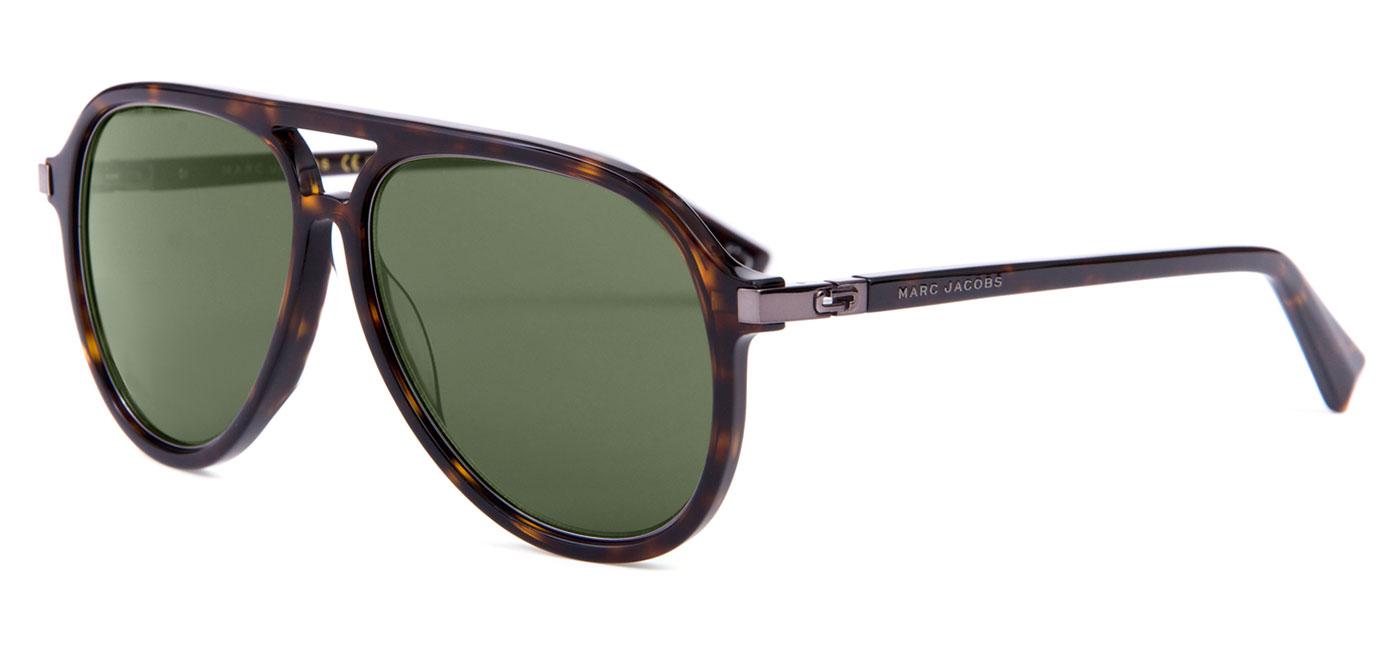 64a4f29d5b Marc Jacobs 174 S Sunglasses - Dark Havana   Green - Tortoise+Black