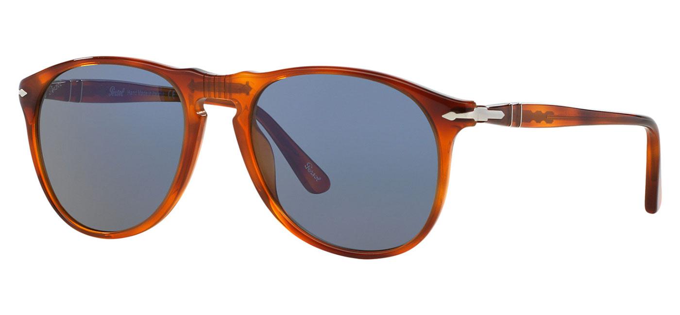 b254e2cdebb Persol PO9649S Sunglasses - Terra di Siena   Blue - Tortoise+Black