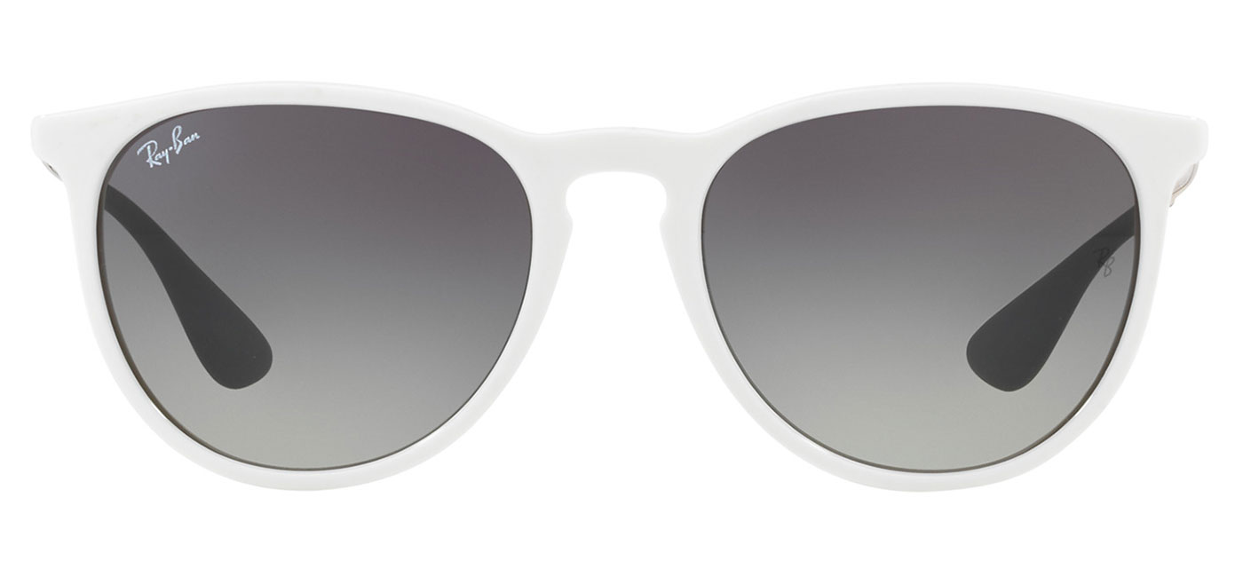 faacaddba5 Ray-Ban RB4171 Erika Sunglasses - Shiny White   Grey Gradient ...