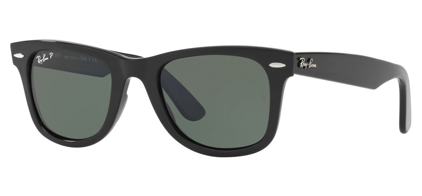 be93f6d239c6b 0RB4340  601 58 product2. Ray-Ban RB4340 Wayfarer Ease Sunglasses – Black    Green Polarised 1