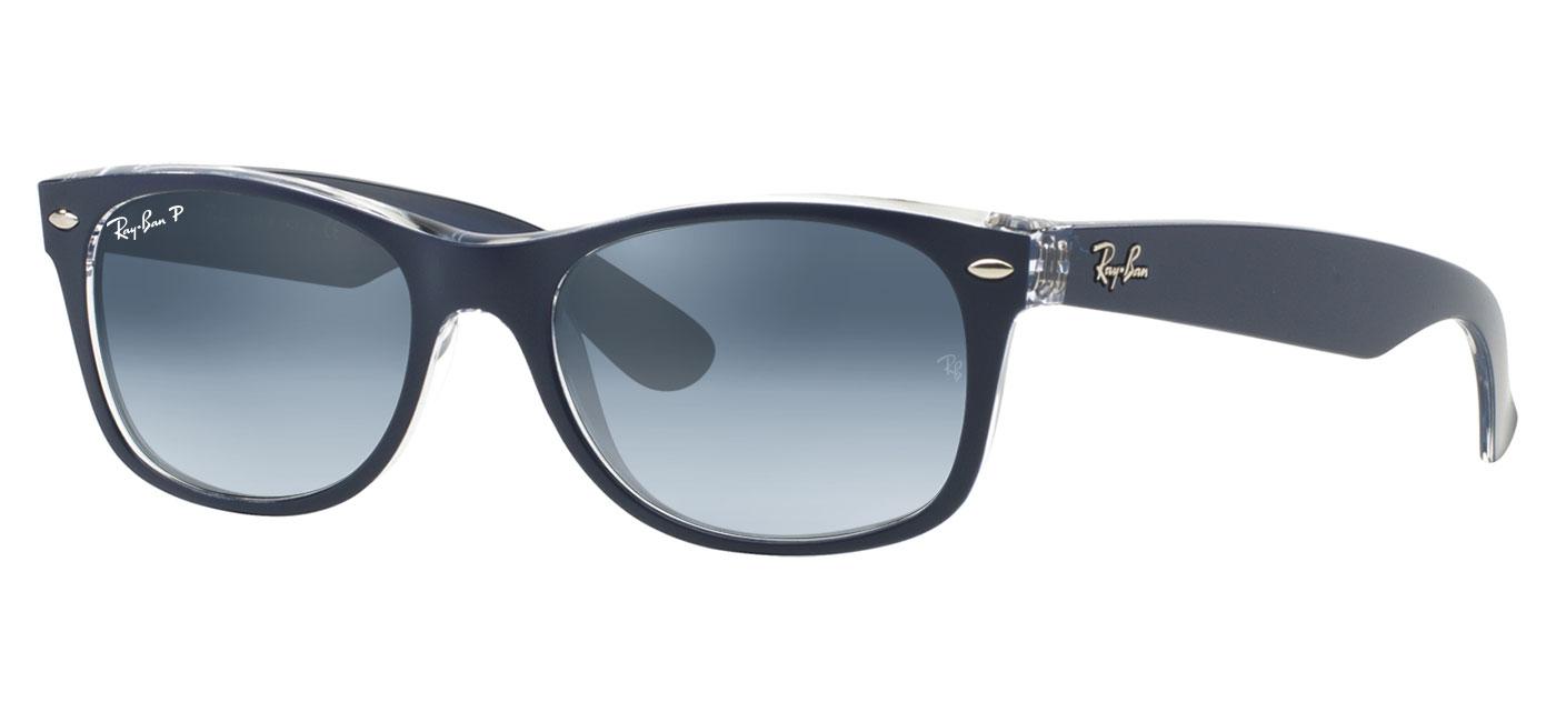 4073467723 blue-grey-gradient-polarised · Ray-Ban RB2132 New Wayfarer Prescription  Sunglasses – Blue   Transparent 2