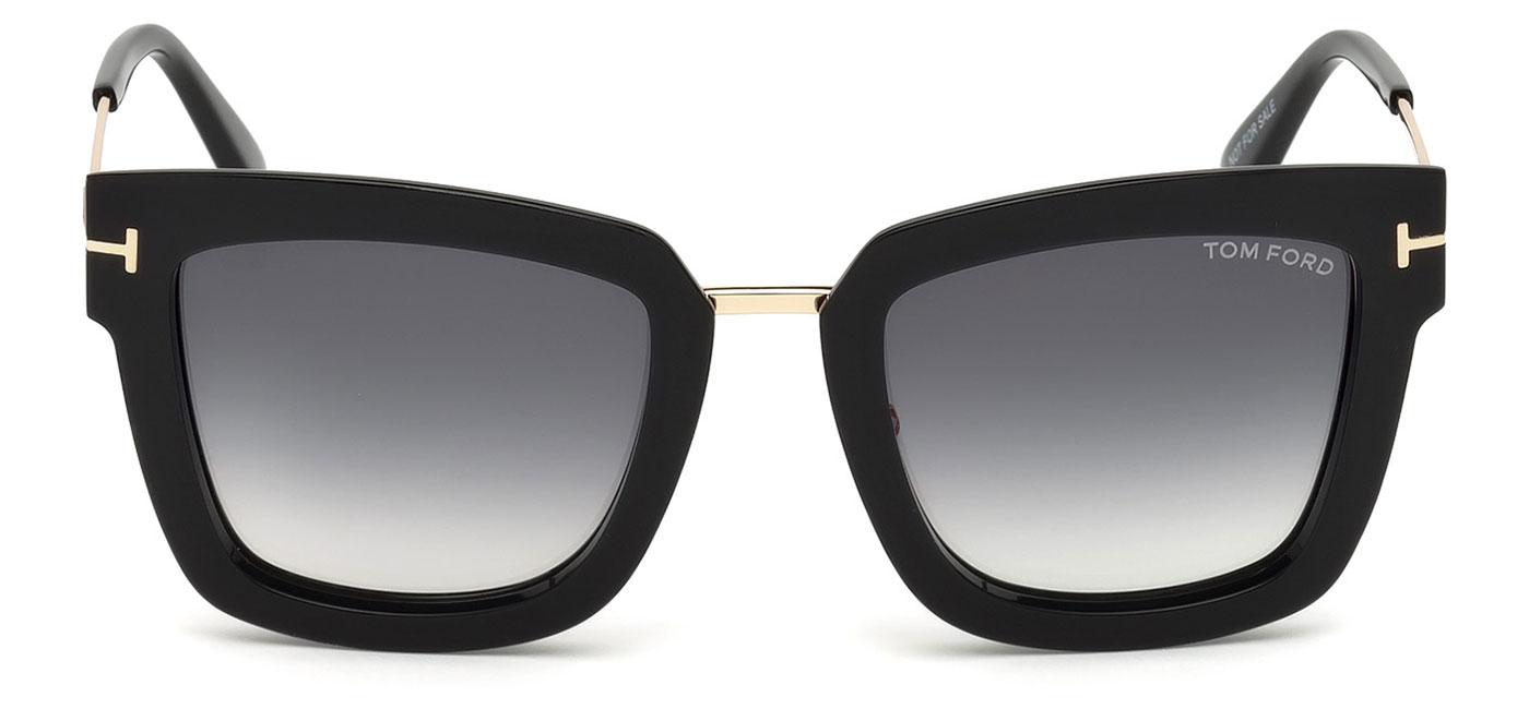 9c5a692a6a Tom Ford FT0573 Lara Sunglasses - Shiny Black   Gradient Grey ...