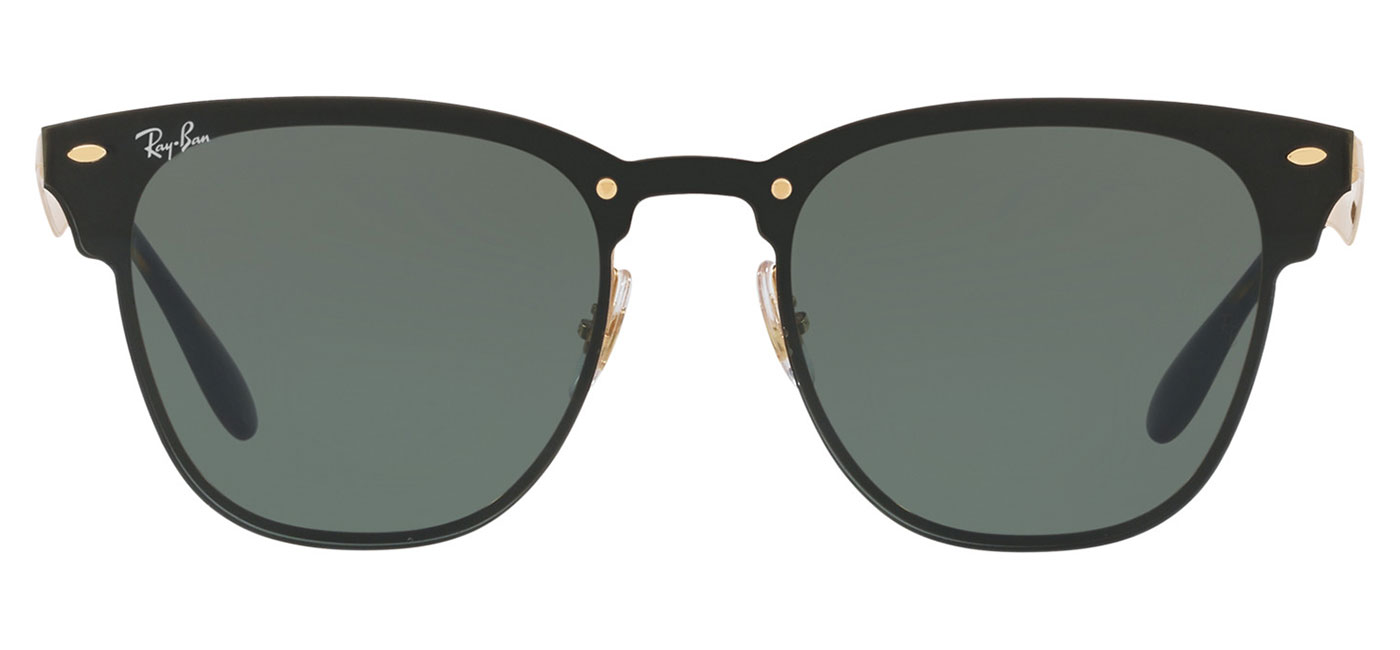 Ray-Ban RB3576N Blaze Clubmaster Sunglasses – Gold / Green 1