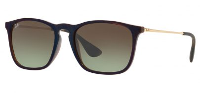 Ray-Ban RB4187 Chris Sunglasses - Transparent Brown & Gold / Brown Gradient