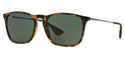 Ray-Ban RB4187 Chris Sunglasses - Tortoise & Gunmetal / Green