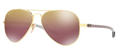 Ray-Ban RB8317CH Chromance Sunglasses - Gold / Purple Mirror Chromance Polarised