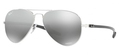 Ray-Ban RB8317CH Chromance Sunglasses - Silver / Silver Mirror Chromance Polarised