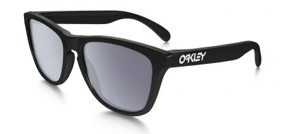 Oakley Frogskins Sunglasses - Polished Black / Grey