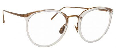 Linda Farrow LFL 251 Glasses - Clear & Rose Gold