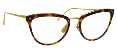 Linda Farrow LFL 683 Glasses - Tortoiseshell & Yellow Gold