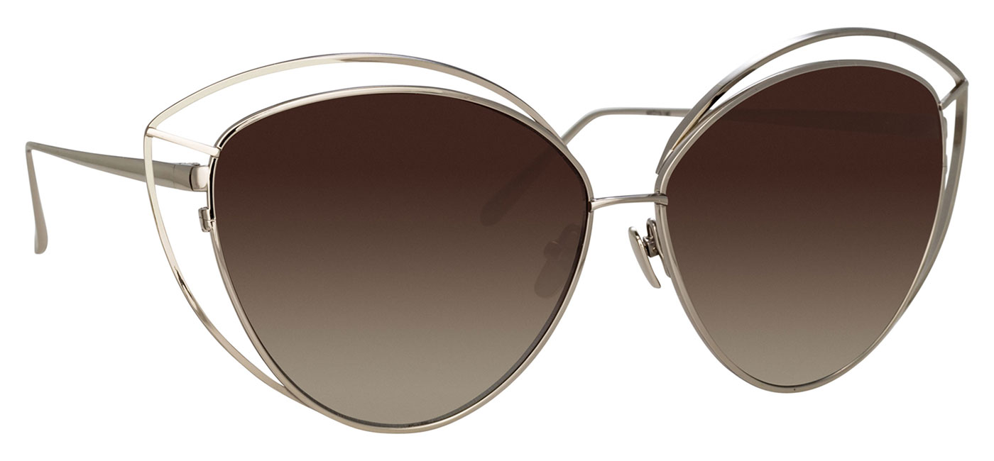 ddf0d402ec Linda Farrow LFL 697 Sunglasses - White Gold   Dusk Gradient ...