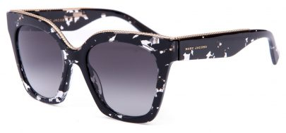 Marc Jacobs 162/S Sunglasses - Black Crystal Havana / Dark Grey Gradient
