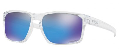 Oakley Sliver Sunglasses - Polished Clear / Prizm Sapphire