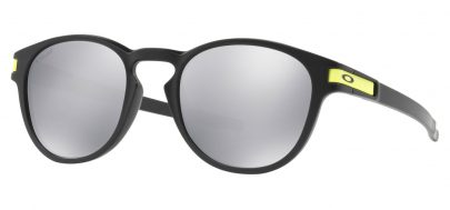 Oakley Latch Sunglasses - Valentino Rossi - VR46 Matte Black / Chrome Iridium