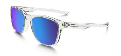 Oakley Trillbe X Sunglasses - Polished Clear / Sapphire Iridium Polarised
