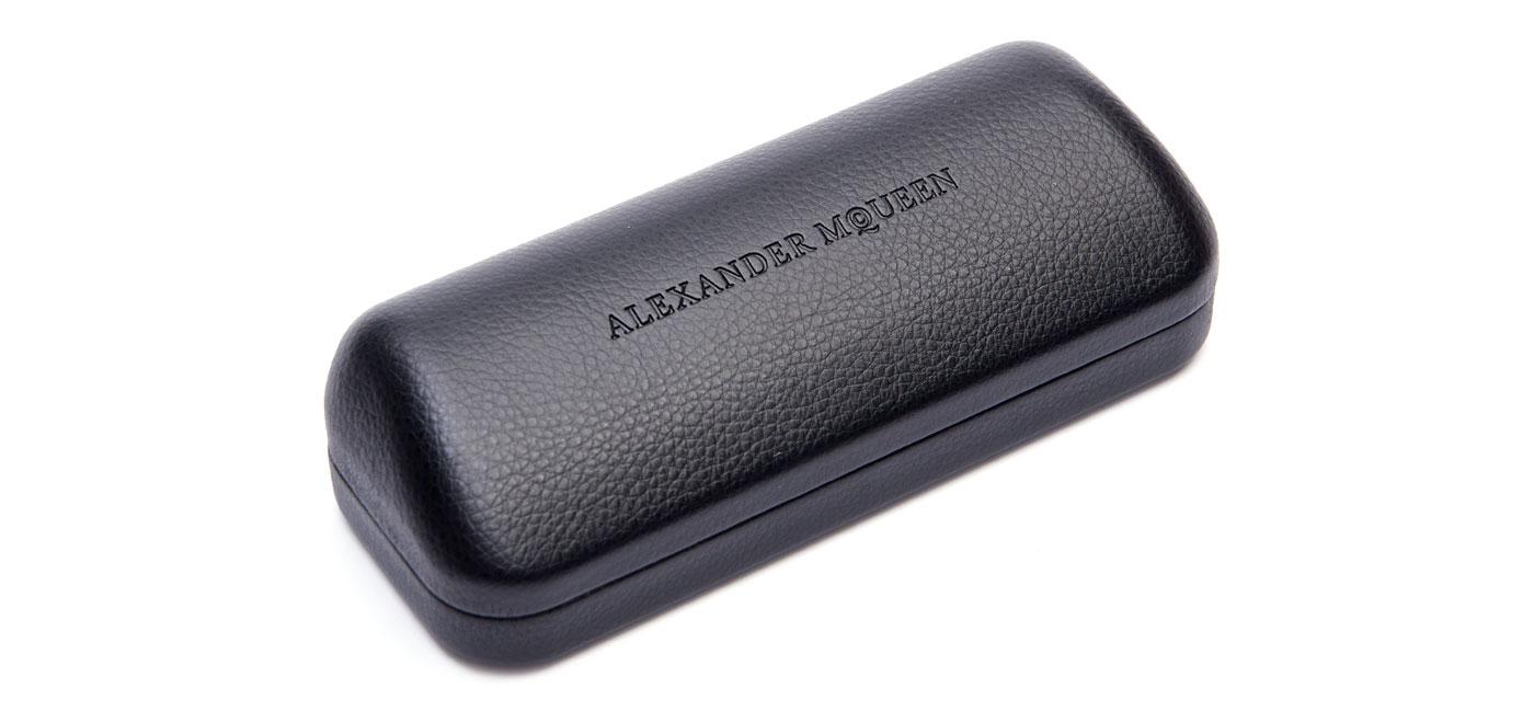 Alexander McQueen AM0110O Glasses – Black & Silver 2