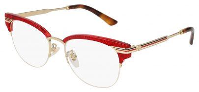 Gucci GG0201O Glasses - Red & Gold