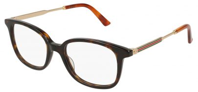 Gucci GG0202O Glasses - Avana & Gold