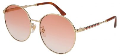 Gucci GG0206SK Sunglasses - Gold / Orange Gradient
