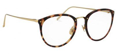 Linda Farrow LFL 251 Glasses - Tortoiseshell & Yellow Gold