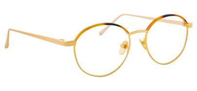 Linda Farrow LFL 580 Glasses - Tortoiseshell & Yellow Gold