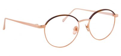 Linda Farrow LFL 580 Glasses - Rose Gold & Mocha