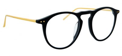 Linda Farrow LFL 608 Glasses - Black & Yellow Gold