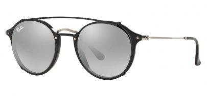 Ray-Ban RX2447V Glasses - Black & Clip-On (Black / Grey Flash Gradient)
