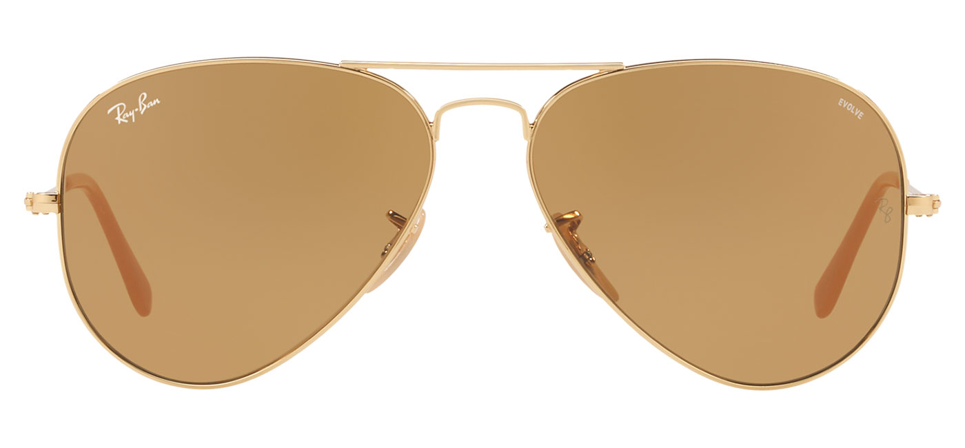 4a64a835c09 0RB3025  90644I Product2. 0RB3025  90644I Product3. Ray-Ban RB3025 Aviator  Sunglasses – Gold   Green Polarised 4