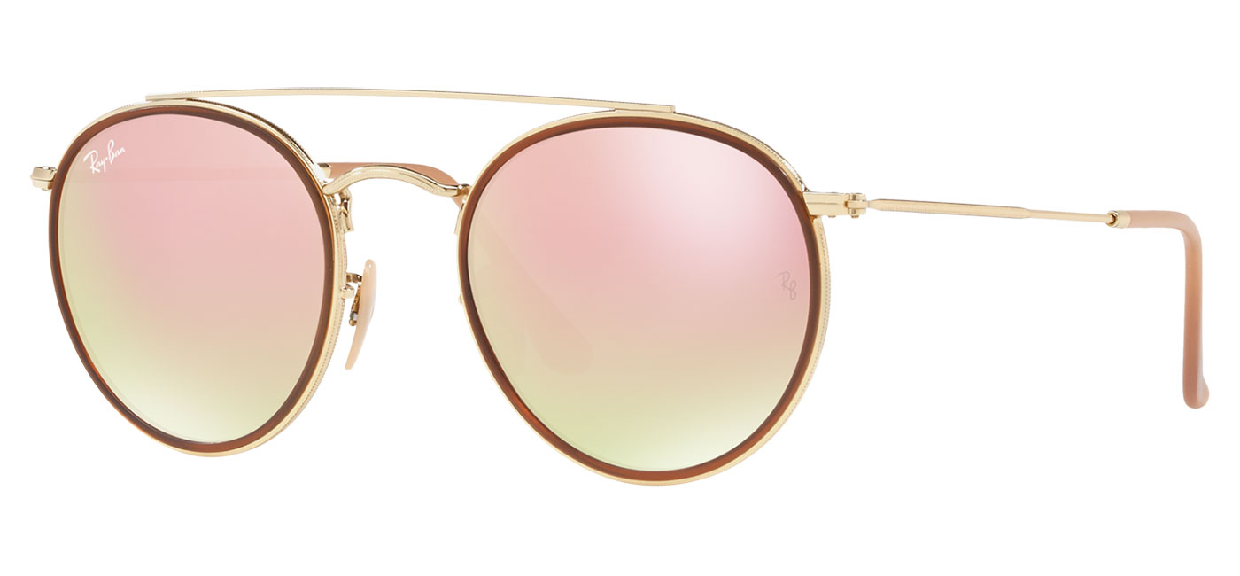 425b1110d0f ... Ray-Ban RB3647N Round Double Bridge Sunglasses – Gold   Copper Gradient  Flash. prev. next. 0RB3647N  001 7O Product1