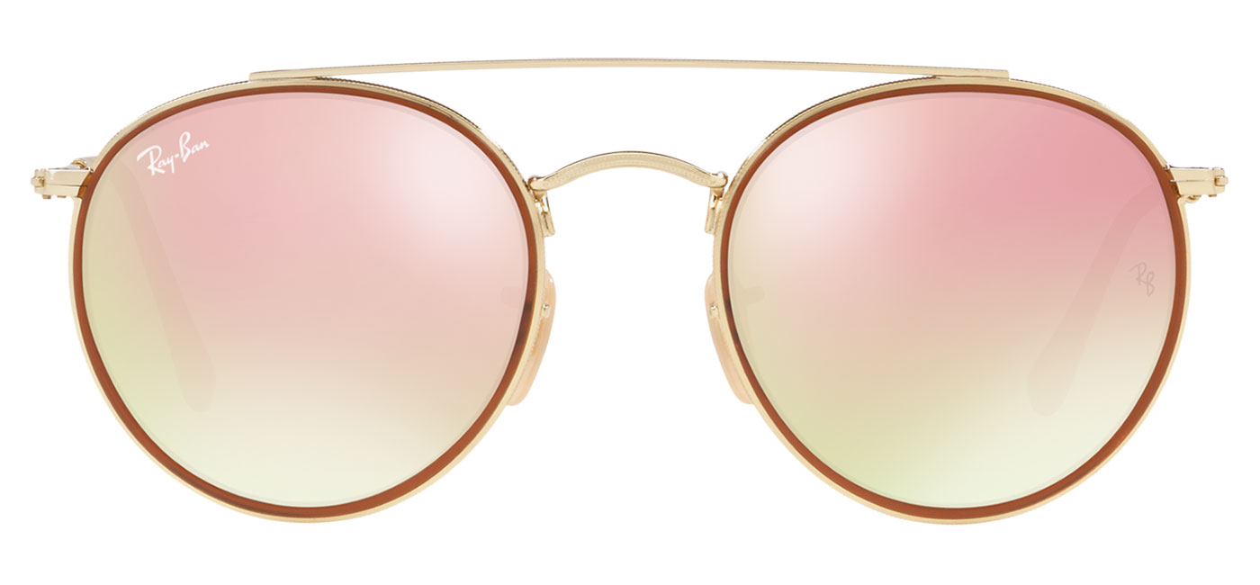 5b95133a928 ... Ray-Ban RB3647N Round Double Bridge Sunglasses – Gold   Copper Gradient  Flash. prev. next. 0RB3647N  001 7O Product1 · 0RB3647N  001 7O Product2