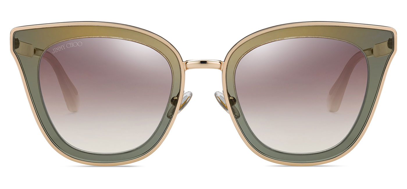 68611e358b9c Jimmy Choo Lory Sunglasses - Copper Gold & Grey / Brown Gradient ...
