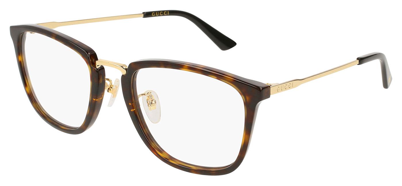 d21e7e209 Gucci GG0323O Glasses - Havana & Gold - Tortoise+Black