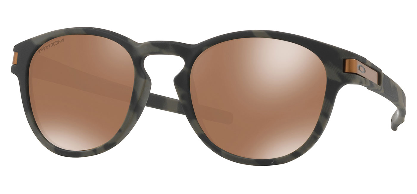 5f526d8ae8b Oakley Latch Sunglasses - Olive Camo   Prizm Tungsten - Tortoise+Black