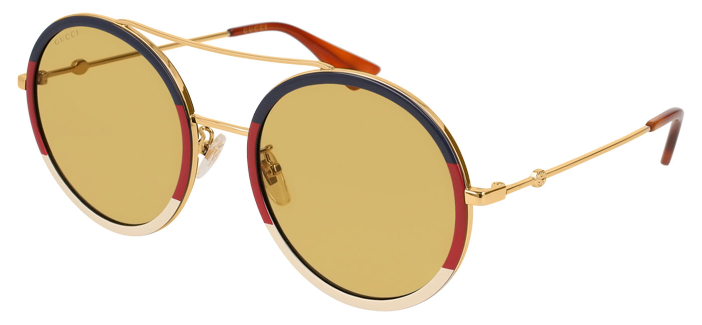 358d1d3e8b ... Gucci GG0061S Sunglasses – Blue-Red   Gold   Amber. prev. next.  GG0061S-015 product